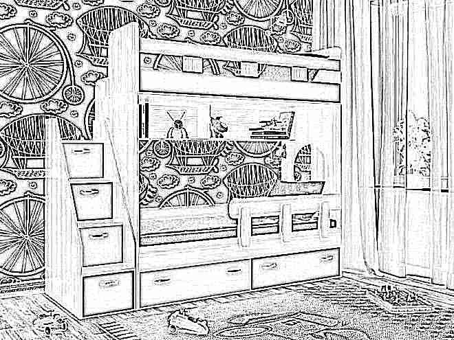 Кровати двухэтажные детям