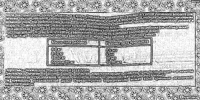 Дозировка парацетамола ребенок 4 года